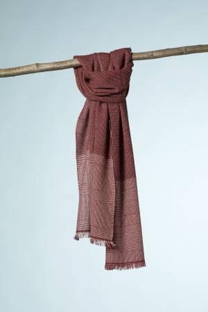 kashir  fil a fil rosso-beige